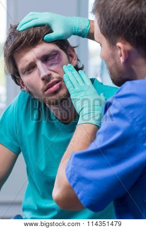 Young Man With Eye Bruise