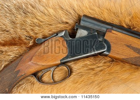 Rifle On Fur