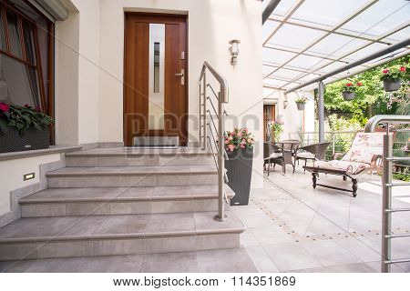 Entry To Elegant House