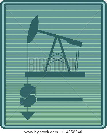 Oil Pump And Dollar Icons. Energy Industry Relative