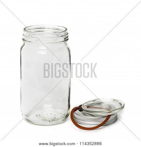 Empty Glass Jar With Lid