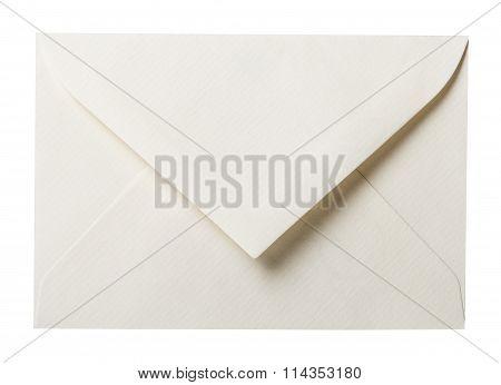 Blank envelope on white