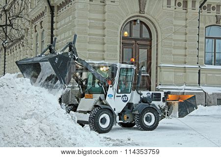 Snow Removal In City