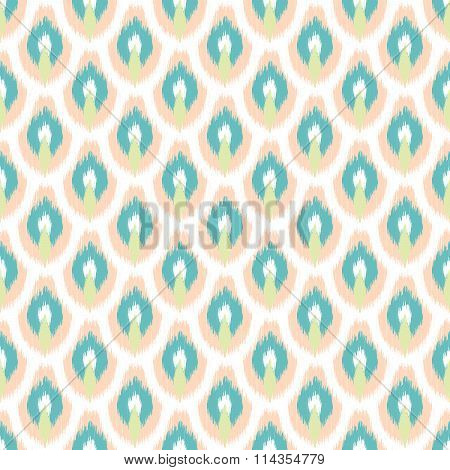 Ikat seamless vector pattern.