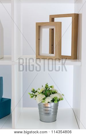 Shelving Unit Flower And Frames