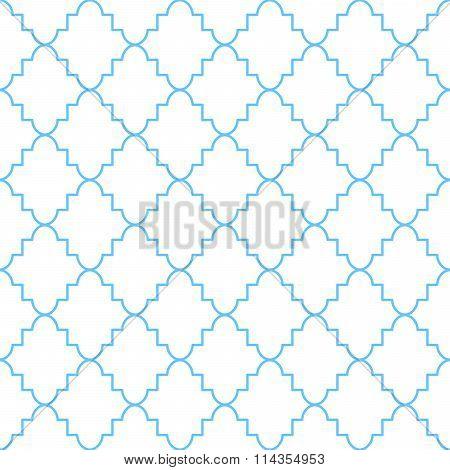 Quatrefoil classic net pattern.