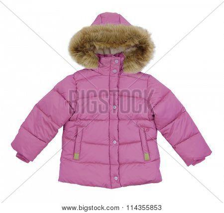 pink jacket isolated on white background