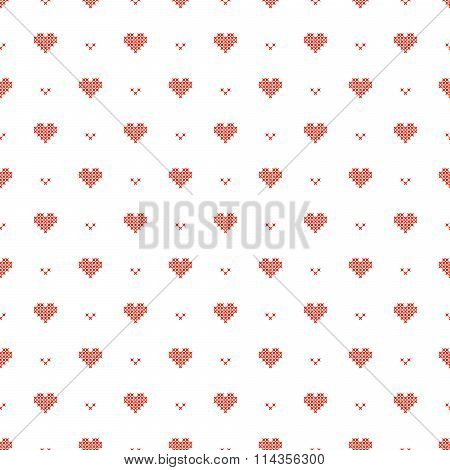 Cross stitch seamless vector pattern.