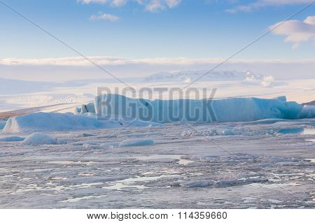 Iceland natural landscape in winter
