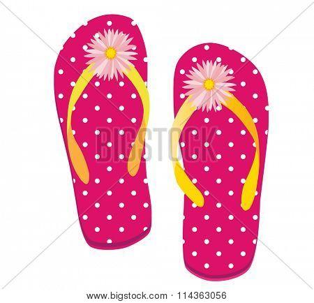 Raster illustration of a pair of flip flop