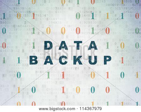 Information concept: Data Backup on Digital Paper background