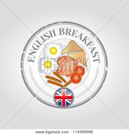 Stamp english breakfast