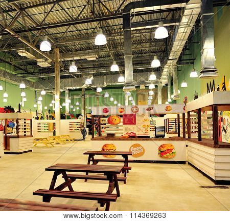Food-court Of Zelenopark Shopping Centre In Moscow