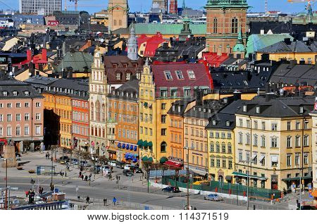 Multicolor Houses Of Stockholm