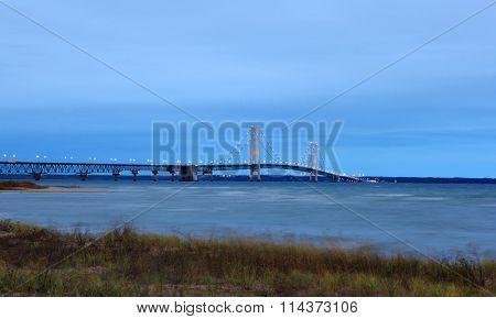 Sunrise of the Mackinac Bridge Michigan