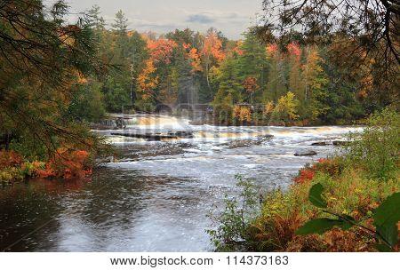Tahquamenon Falls State Park island upper Peninsula Michigan in the Autumn