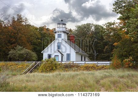 Old Mission Point Lighthouse Traverse Bay, Pure Michigan, USA