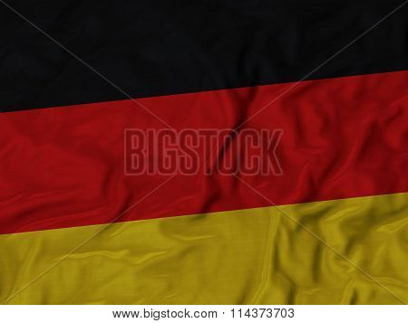 Close Up Of Ruffled Germany Flag