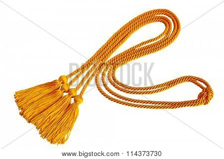 Curvy Graduation honor cord isolated on white background