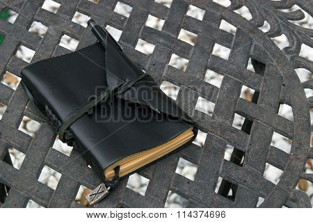 Leather Covered Artist Notebook