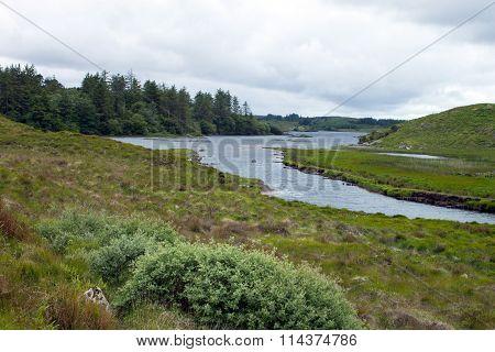 View of Ballinahinch Lake