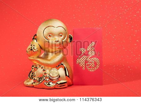 golden monkey with decoration