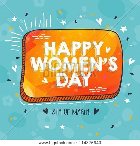 Beautiful greeting card design for Happy International Women's Day celebration.