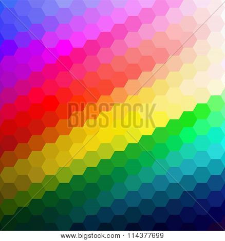 Rainbow geometric background