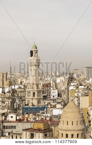 Aerial View Of Buenos Aires From Panoramic Viewpoint