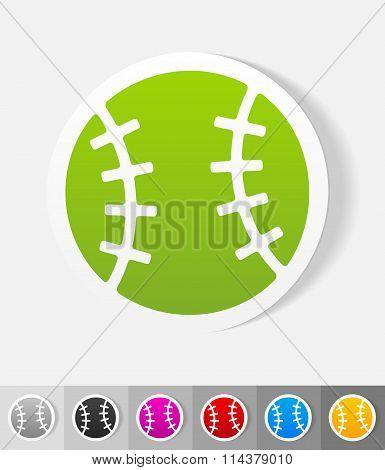 realistic design element. baseball