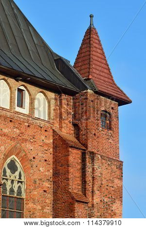 Tower Koenigsberg Cathedral. Kaliningrad, Russia