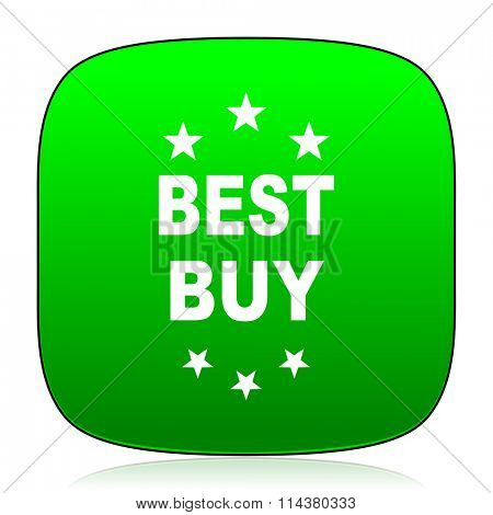 best buy green icon for web and mobile app