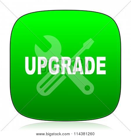 upgrade green icon for web and mobile app