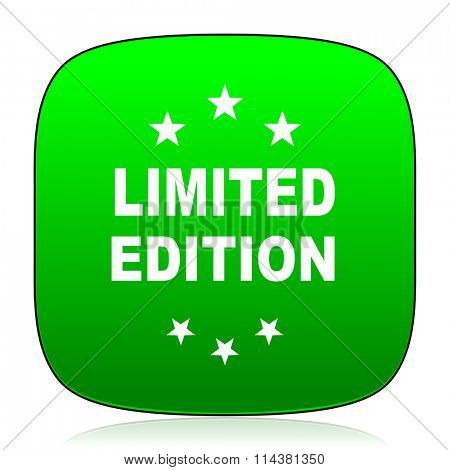 limited edition green icon for web and mobile app