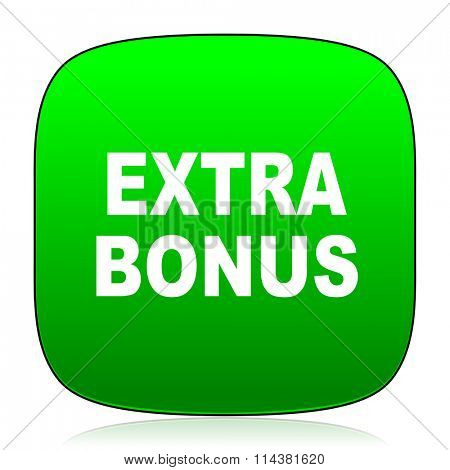 extra bonus green icon for web and mobile app