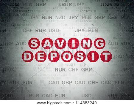 Banking concept: Saving Deposit on Digital Paper background