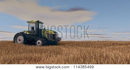 general  tractor in autumn field