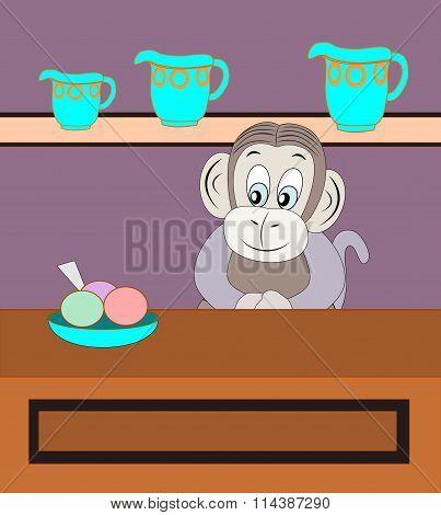 Monkey Selling  refreshment