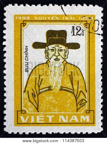 Postage Stamp Vietnam 1980 Nguyen Trai, Vietnamese Confucian Sch
