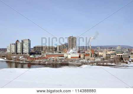 Place du Portage dominate the skyline of Gatineau