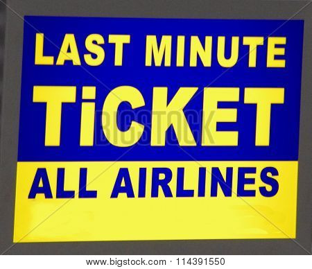 Last Minute Ticket
