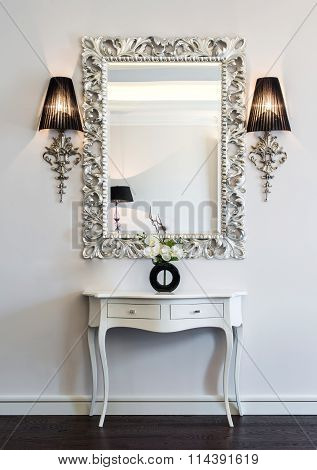 Dressing Table With Large Mirror
