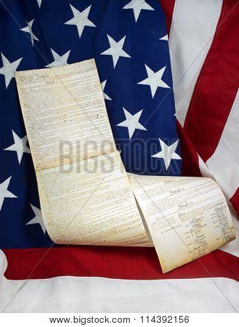 Constitution & Flag Still Life