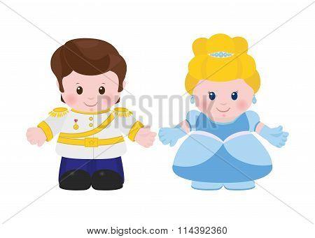 Prince And Princess, Cartoon Style