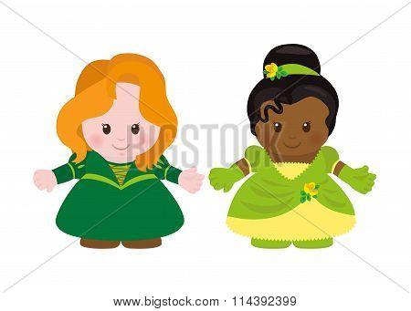 Two Princesses, Cartoon Style