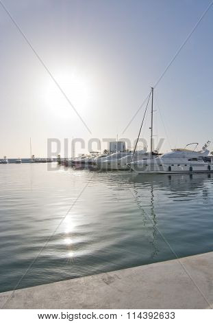Yachts And Sailboats In Santa Eulalia
