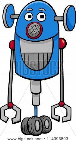 Funny Robot Cartoon Illustration