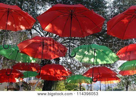 Umbrellas As An Element Of Street Design