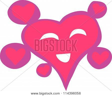 Cute Pink Smiling Heart