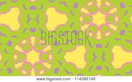 Psychadelic Seamless Geometric Pattern